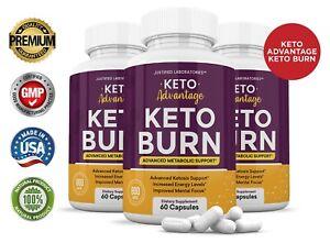 Keto Advantage Keto Burn Pills Weight Loss Advanced Ketosis Supplement 3 Pack