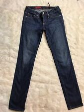 AG ADRIANO GOLDSCHMIED LOW RISE THE STILT CIGARETTE LEG SKINNY STRETCH JEANS 25
