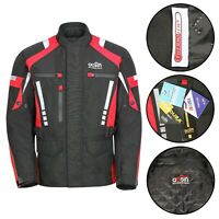 New Mens Motorcycle Waterproof Cordura Textile Adsin Jacket Motorbike CE Armours