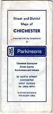 MAP STREET & DISTRICT MAPS CHICHETER COMPLIMENTS OF PARKINSONS ESTATE AGENTS