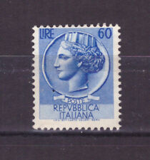 FRANCOBOLLI Italia Repubblica 1953-54 Siracusana 60 Lire MH* SAS717