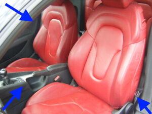 AUDI TT RED FULL LEATHER HEATED SPORT SEATS ORIGINAL GENUINE 8J MK2 RARE
