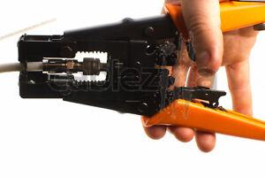 Coaxial Compression Crimping Tool For BNC RCA Cable RG59 RG6 Adjustable Crimper