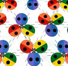 Chb87 Charley Harper Lady Bug Ladybugs Insect Beetle Organic Cotton Quilt Fabric