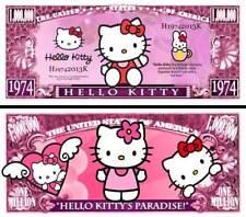 OUR HELLO KITTY DOLLAR BILL (2 Bills)