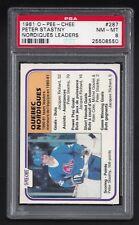 1981 OPC #287 Peter Stastny Nordiques Leaders, HOF  PSA 8 MN-MT,  Hockey 1981-82