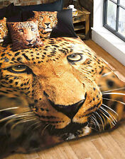 Leopard Duvet Set Photgraphic Printed Single Bed Quilt Cover & 1 Pillowcase