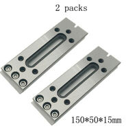 2x Wire EDM Fixture Board Stainless Jig Tool For Clamping And Leveling 150x50x15