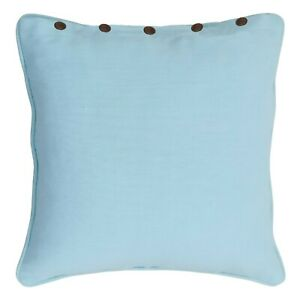 NEWLY RANS London Cushion Covers with Buttons 60x60cm 100% Cotton