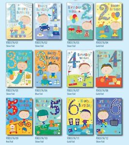 33p! LOWEST PRICE-AGES 1-6 BOYS x36-FREE POST 6 DESIGNS x6, B/DAY, WRAPPED