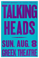 Talking Heads concert poster print