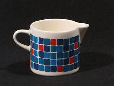 Melitta Keramik Milchkännchen 50er Jahre blaue und rote Karos