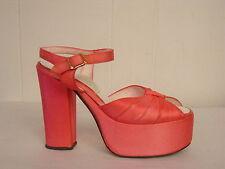 Vintage 1960s platform shoes peep toe ankle strap size 6