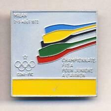 1972 FISA WORLD ROWING Championships PARTICIPANT PIN Badge XXL Milan ITALY