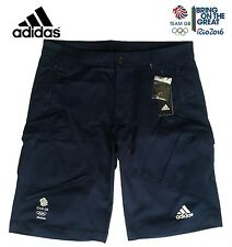 ADIDAS TEAM GB RIO 2016 ELITE ATHLETE BERMUDA SHORTS CARGO SHORTS Size 40""