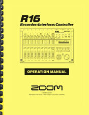 Zoom R16 16-Track Digital Recorder OWNER'S OPERATION MANUAL