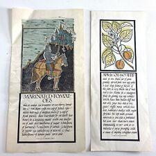 (2) 1968 David Lance Goines Recipe Prints Marinated Tomatoes & Apricot Souffle