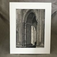 1890 Antico Stampa Indiano Islamico Architettura Gateway Koutab Moschea India