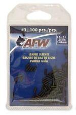 Afw #3 Black Leader Sleeves .055 in (1.40mm) New! #J03B-B 100 Pack Single Barrel