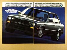 1990 BMW E30 318is silver car photo vintage print Ad