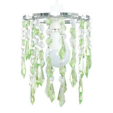 2 Tier Green  Clear Acrylic Crystal Ceiling Light Lamp Shades Chandelier Lights
