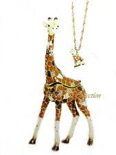 Giraffe Standing Bejeweled Trinket Box