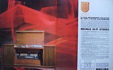 PUBLICITÉ DE PRESSE 1966 PHILIPS PRESTIGE MEUBLE HI-FI STEREO - ADVERTISING