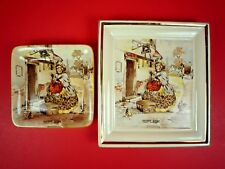 SET OF TWO VINTAGE NEWHALL HANLEY STAFFORDSHIRE ENGLAND SAIREY GAMP PLATES