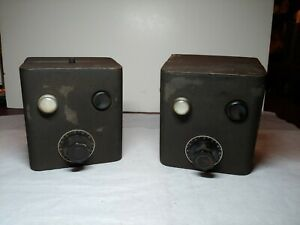 Pair Of International Projector Corp 35 Mm Changeover Boxes Daven Sound Control