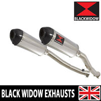 ZZR 1400 ZX14 Ninja 2008-2011 4-2 Exhaust Silencers Stainless + Carbon Tip 300ST
