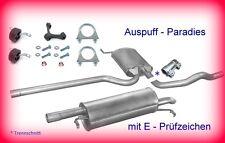 Abgasanlage Auspuff Schalldämpfer VW Passat 3B 1.6 Typ 3B2/3 & 3B5/6 (B5) + Kit