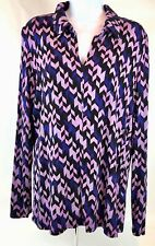 Investments Woman's Purple Long Sleeve Top Size Lg