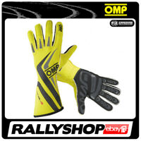 FIA OMP One-S RACE one s Karthandschuh Handschuhe Professionell Sport Gelb