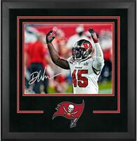 Devin White Buccaneers Super Bowl LV Champs Frmd Signed Dlx 16 x 20 Action Photo