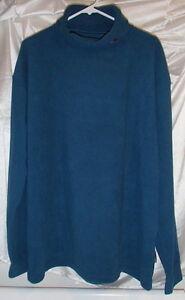 Trespass Attitude Blue Fleece Turtleneck Pullover Long-Sleeve Shirt New