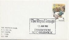 (32335) CLEARANCE GB Cover The Royal Image Exhibition Warwick 2 January 1980