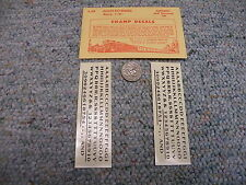 """Champ decals HO Alphabet Numbers L-58 Globe Extended black 1/8""""  H67"""