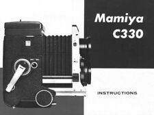 MAMIYA C330 INSTRUCTION MANUAL FREE SHIP