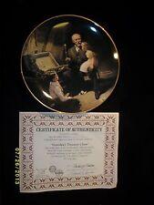 Plate Norman Rockwell Grandpa'S Treasure Chest / General Electric Cp34