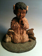 """ALL GOD'S CHILDREN """"Faith"""" (#17 in series) Martha Holcombe Negro Folk Art"""