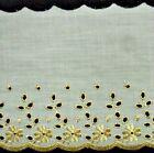 """floral brodé tissu bordure, 5 """" large, couleurs diverses, 1 MÈTRES OU 10 rouleau"""