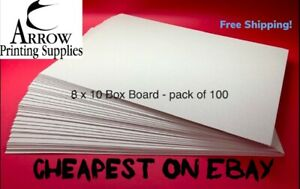 Boxboard 8 x 10 700GSM 1.2mm thick Backing Boards  - Pack of 100    Recycled