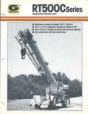 Equipment Brochure - Grove Rt500C series Rough-Terrain Hyd Crane c1987 (E4045)
