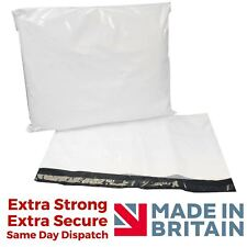 More details for white mailing bags - premium strong sacks plastic polythene courier postage