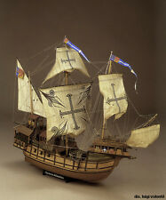 "Gorgeous, Detailed Wooden Model Ship Kit by Mamoli: the ""Sao Miguel"""