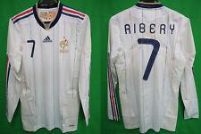 2010-2011 France Player Techfit Jersey Shirt Maillot Away Nike Ribery #7 L/S L