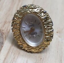 Vintage Dynasty 17 Jewels Adjustable Hand-Winding Ring Watch Hours~Run~Keep Time