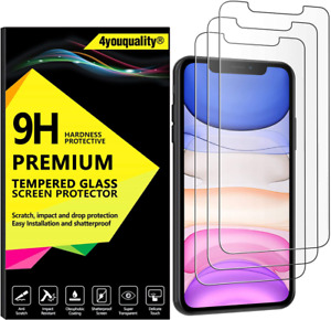 4youquality [3-Pack] iPhone 11 and XR Screen Protector, Tempered...