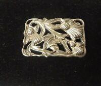 Vintage Sterling Silver Brooch - Pin - Thistle - Scottish Flower
