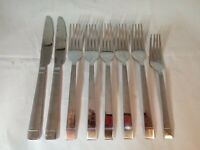 Vintage Delco Stainless Flatware Silverware 8 Piece Lot